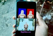 Cara Buat Pas Foto Latar Merah dan Biru di Android